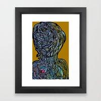 Windower Mustard Framed Art Print