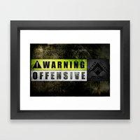 Lockout: Warning Offensi… Framed Art Print