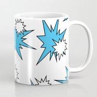 Stars (Blue & White on White) Mug