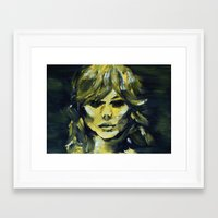 THE YELLOW QUICK PORTRAIT Framed Art Print