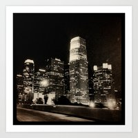 LA at night. Art Print