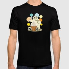 Polar bear's summer time Black SMALL Mens Fitted Tee