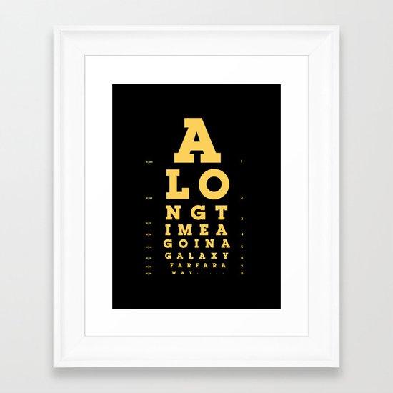 Jed Eye Chart Framed Art Print