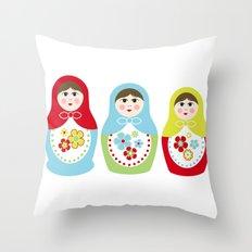 Matrioshka Dolls - Trio Throw Pillow