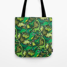Dino Pattern Tote Bag