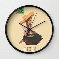México postal  Wall Clock