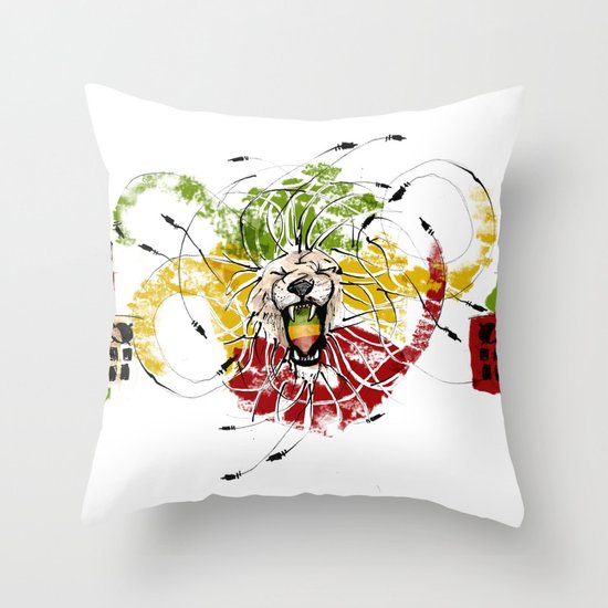 Reggae Lion Speakers Throw Pillow