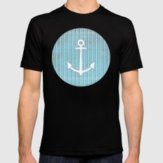 Anchor in Blue Black SMALL Mens Fitted Tee