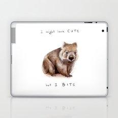 I might look cute, but I bite Laptop & iPad Skin