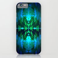 Blue columns in Abstract iPhone 6 Slim Case