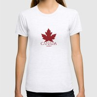 Team Foreign Canada Womens Fitted Tee Ash Grey SMALL