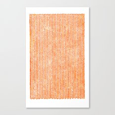 Stockinette Orange Canvas Print
