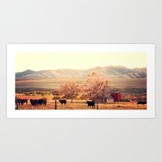 Idaho Farm Art Print