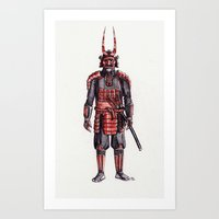 samurai, the villain Art Print