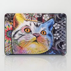Chloe ... Abstract cat art iPad Case
