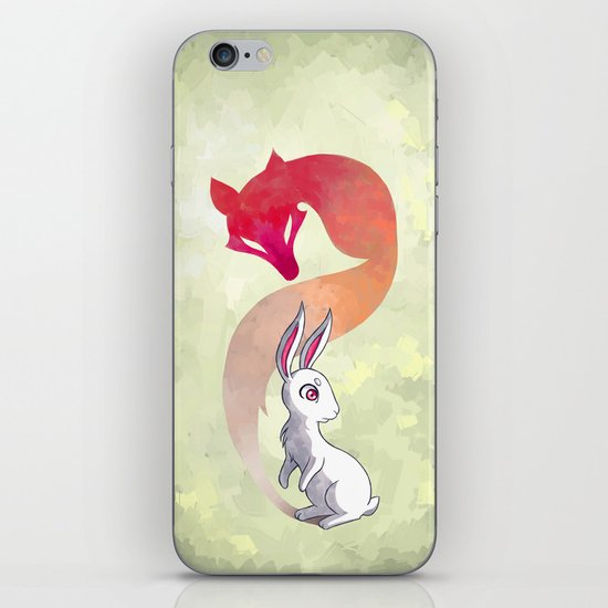 Rabbit and a Fox iPhone & iPod Skin