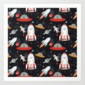 Spaceships Art Print