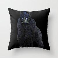 Optimus Primate Throw Pillow