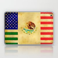 MEXICAN AMERICAN FLAG - 017 Laptop & iPad Skin