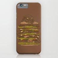 iPhone & iPod Case featuring Godzilla vs Hamburger by Sarinya  Withaya