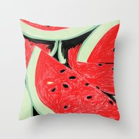Watermelon, 2013. Throw Pillow
