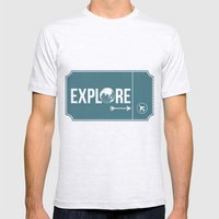 Explore Mens Fitted Tee Ash Grey SMALL