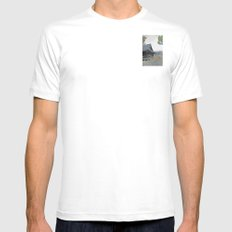 Temple at Dusk SMALL White Mens Fitted Tee