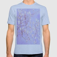 Vincent Van Gogh Almond Blossoms  Lavender Mens Fitted Tee Athletic Blue SMALL