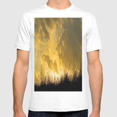 Last Light Mens Fitted Tee SMALL White