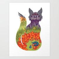 alice in wonderland Art Prints featuring Wonderland by Heather Searles