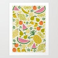 Fruit Mix Art Print