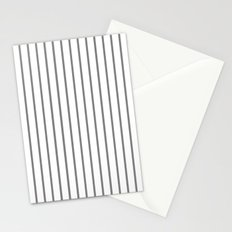 Vertical Lines (Gray/White) Stationery Cards