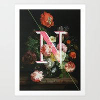 Letter N Art Print