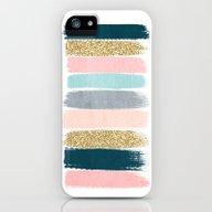 Zara - Brushstroke Glitt… iPhone (5, 5s) Slim Case