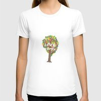love only Womens Fitted Tee White SMALL