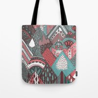 Red Mountains Tote Bag
