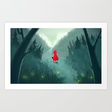 Red Goes To Grandmas Art Print