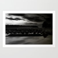 Lake lanier marina. Art Print