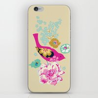 Birds And Blooms 1 iPhone & iPod Skin