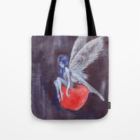 Fairy Loves Apple Tote Bag
