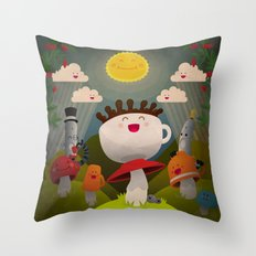Jolly Coffeesburg (Soy, venti, vanilla latte, sugar-free) Throw Pillow