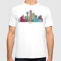 Dallas City  Mens Fitted Tee White SMALL