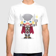 THOR ROBOTIC Mens Fitted Tee White SMALL