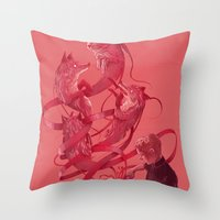 Cutting to the Chase Throw Pillow