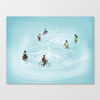 Ride On Ripples Canvas Print