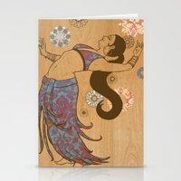 Floral Dancers Stationery Cards