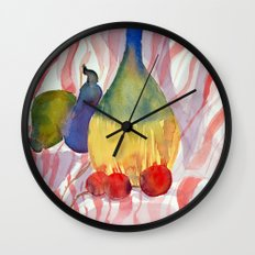 Fruit and Wine Wall Clock