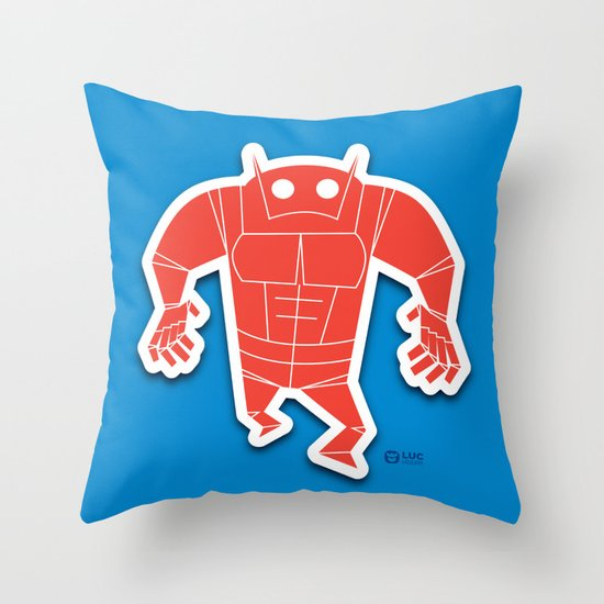Big Red Decorative Pillows : Big Red Throw Pillow by Luc Latulippe Society6