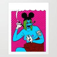 SMOKE.   (Mouseketeer). … Art Print