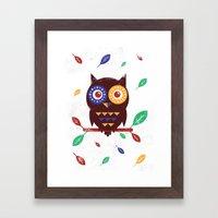 Autumn Owl Framed Art Print